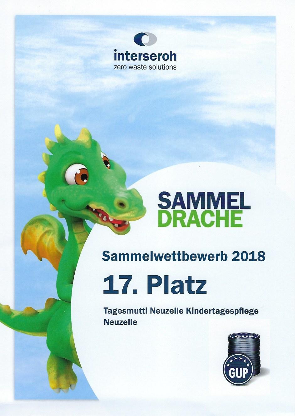 Urkunde für 2018
